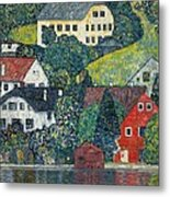Houses At Unterach On The Attersee Metal Print