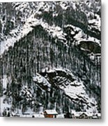 Houses In A Village In Winter, Tasch Metal Print