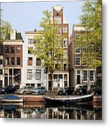 Houses In Amsterdam Metal Print