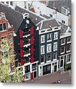 Houses In Amsterdam From Above Metal Print