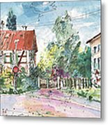 Houses In Soufflenheim Metal Print