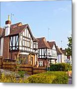 Houses In Woodford England Metal Print