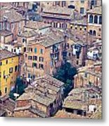 Houses Of Old City Of Siena - Tuscany - Italy - Europe Metal Print