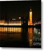 Houses Of Parliament - London Metal Print