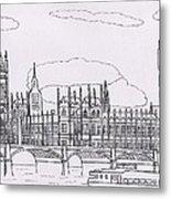 Houses Of Parliament Metal Print by Bav Patel