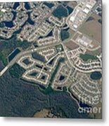 Housing Development Near Wetland Metal Print