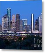 Houston Night Skyline Metal Print