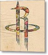 Houston Rockets Logo Art Metal Print