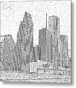 Houston Skyline Abstract Metal Print
