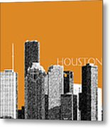 Houston Skyline - Dark Orange Metal Print