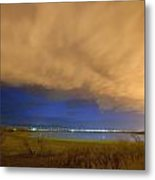 Hovering Stormy Weather Metal Print