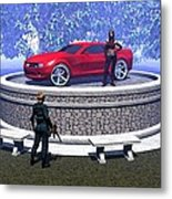 How Did You Get That Car Up There? Metal Print