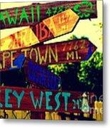 How Far Is It To Key West Metal Print