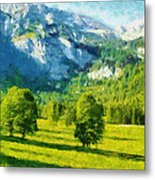 How Green Was My Valley Metal Print by Ayse Deniz