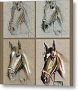How To Draw A Horse Portrait Metal Print