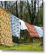 How To Dry An American Quilt Metal Print