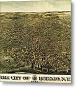 Howards Map Of Buffalo New York 1880 Metal Print
