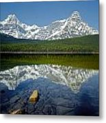 1m3643-howse Peak, Mt. Chephren Reflect Metal Print