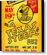 Hoyts A Texas Steer Metal Print