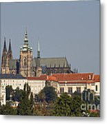 Hradcany - Cathedral Of St Vitus On The Prague Castle Metal Print