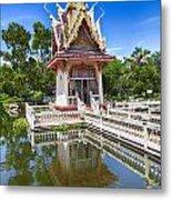 Hua Hin Temple Pond Metal Print