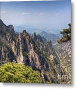 Huangshan Mountain Chinese Famous Landscape Metal Print