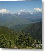 View Of The Rockies From Huckleberry Mountain Glacier National Park Metal Print