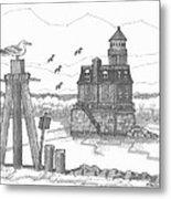 Hudson-athens Lighthouse Metal Print