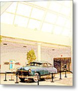 Hudson Car Under Skylight Metal Print by Design Turnpike