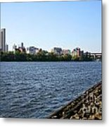 Hudson River And Albany Skyline Metal Print