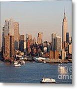 Hudson River And Manhattan Skyline I Metal Print
