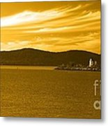 Hudson River Lighthouse Metal Print