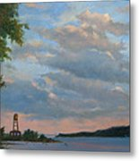 Hudson River Skyscape  Metal Print