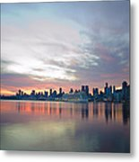 Hudson River Sunrise Nyc Metal Print