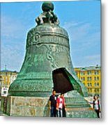 Huge Bell That Cracked In A Pit Inside Kremlin Walls In Moscow-r Metal Print