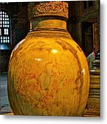 Huge Marble Jar Cut From One Piece Of Marble In Saint Sophia's I Metal Print
