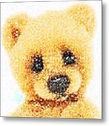 Huggable Teddy Bear Metal Print