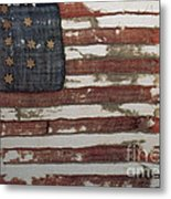 Hulbert Flag Early Us Flag 1776 Metal Print by Photo Researchers