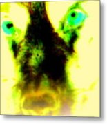 The Green-eyed Hulders Wolf Metal Print