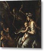 Human Frailty, C.1656 Metal Print