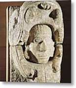 Human Head Going Out From Animals Jaws Metal Print