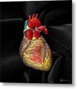 Human Heart On Black Velvet Metal Print