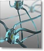 Human Nerve Cells, Computer Artwork Metal Print