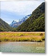 Humboldt Mountains Seen From Routeburn Track Nz Metal Print