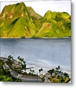 Humid Day In Pago Pago Metal Print