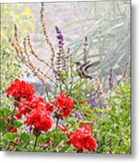 Hummer Shower Metal Print