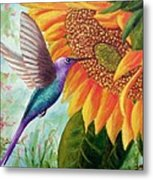 Humming For Nectar Metal Print