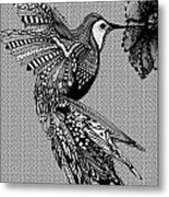 Hummingbird Flight 17 Metal Print