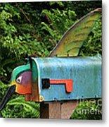 Hummingbird Mailbox Metal Print