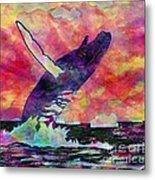 Humpback Whale Digital Color Metal Print